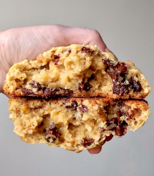 Thick Doughy Chocolate Chip Walnut cookie recipe remake from levain bakery