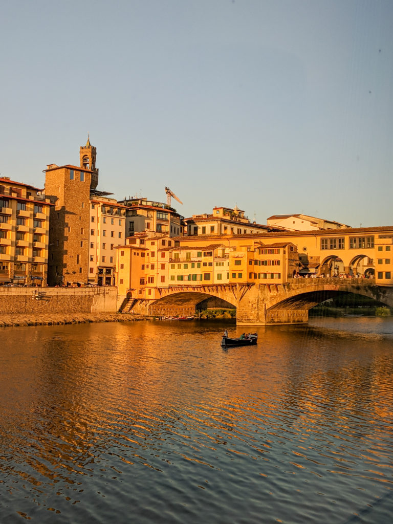 Ponte Vecchio at Sunset Florence Italy