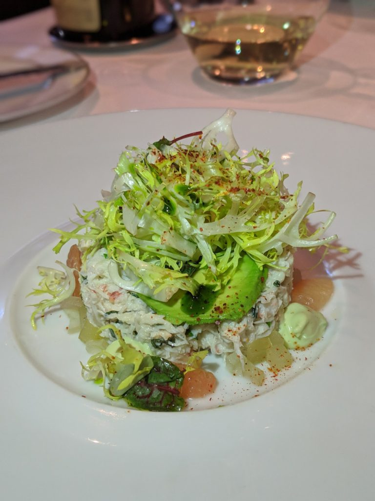 Crab salad from Vaucluse in the Upper East Side NYC