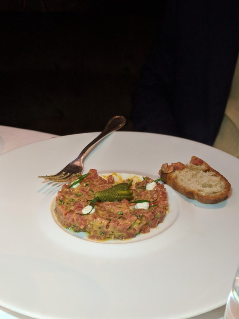 Steak tartare from Vaucluse in the Upper East Side NYC