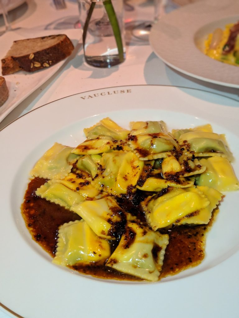 Ravioli from Vaucluse in the Upper East Side NYC