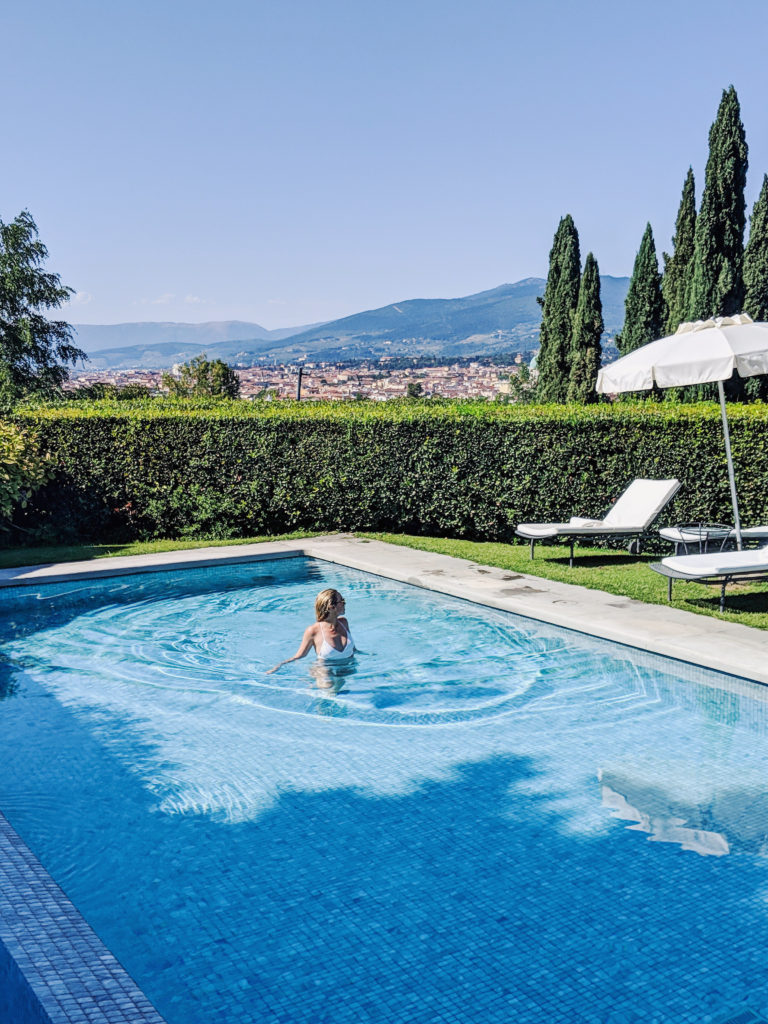 pool at villa la vedetta florence italy