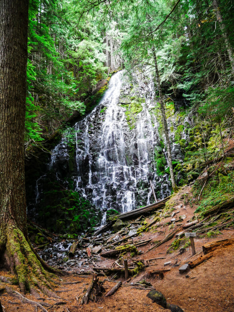 Ramona falls at Mount Hood oregon