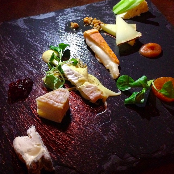 Cheese plate from Batard in Tribeca NYC
