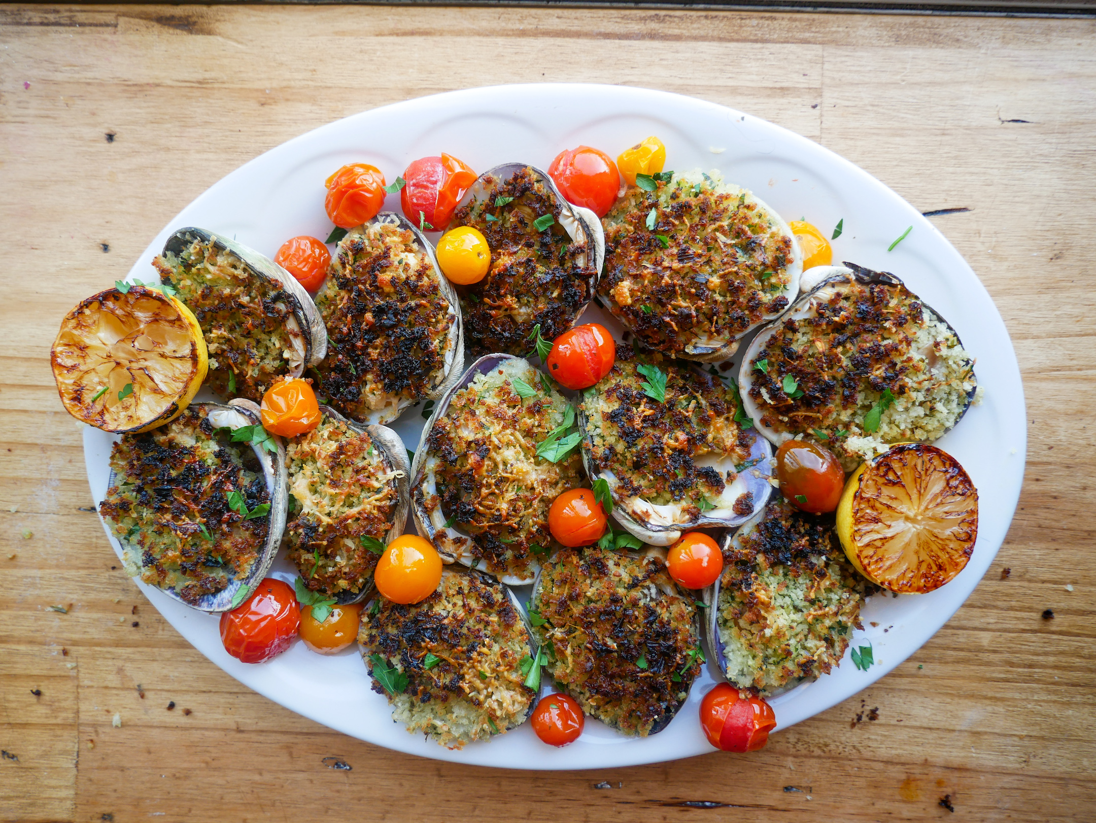 Baked Clams with White Wine Tarragon Butter