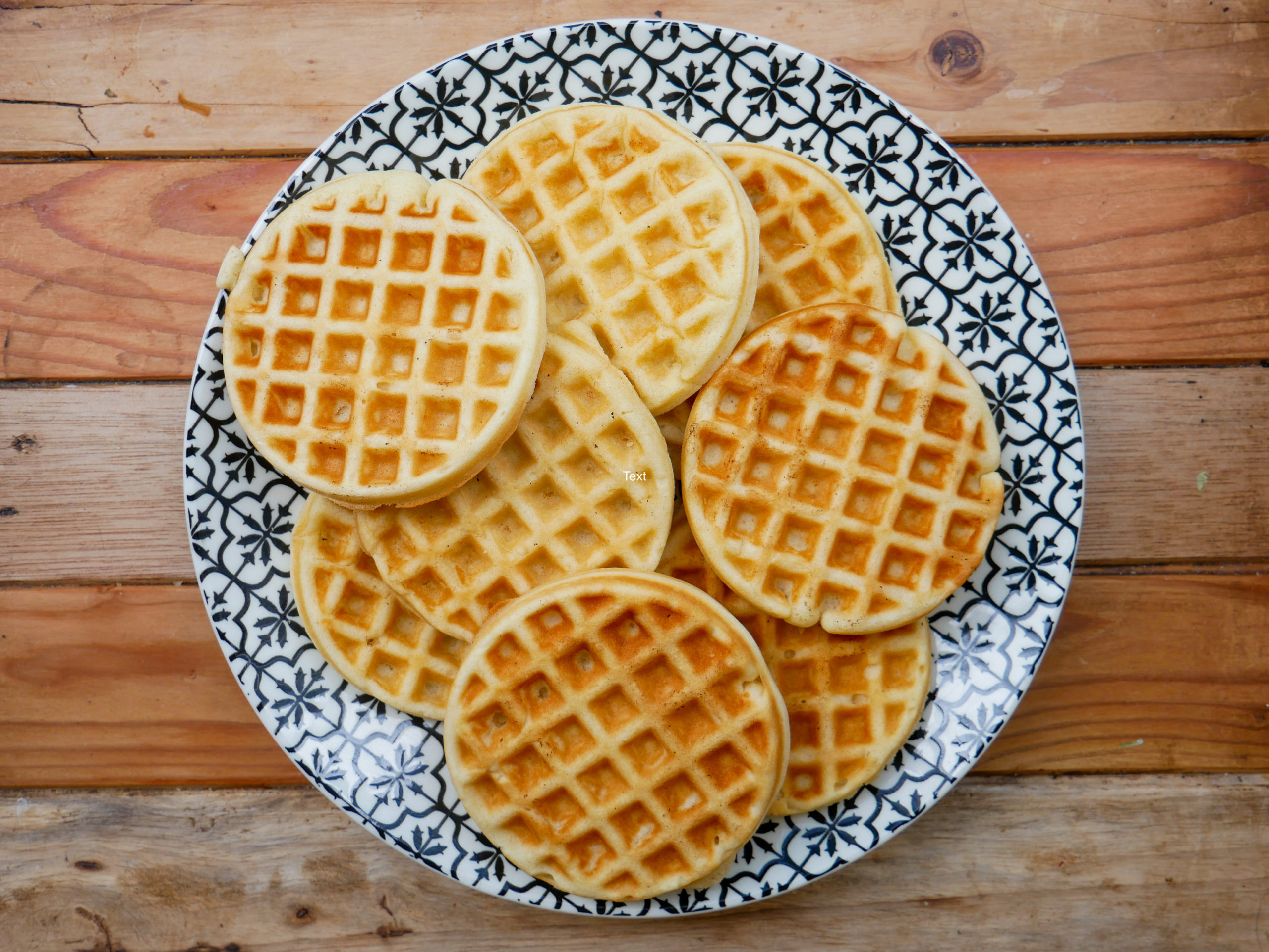 plate of fluffy waffles