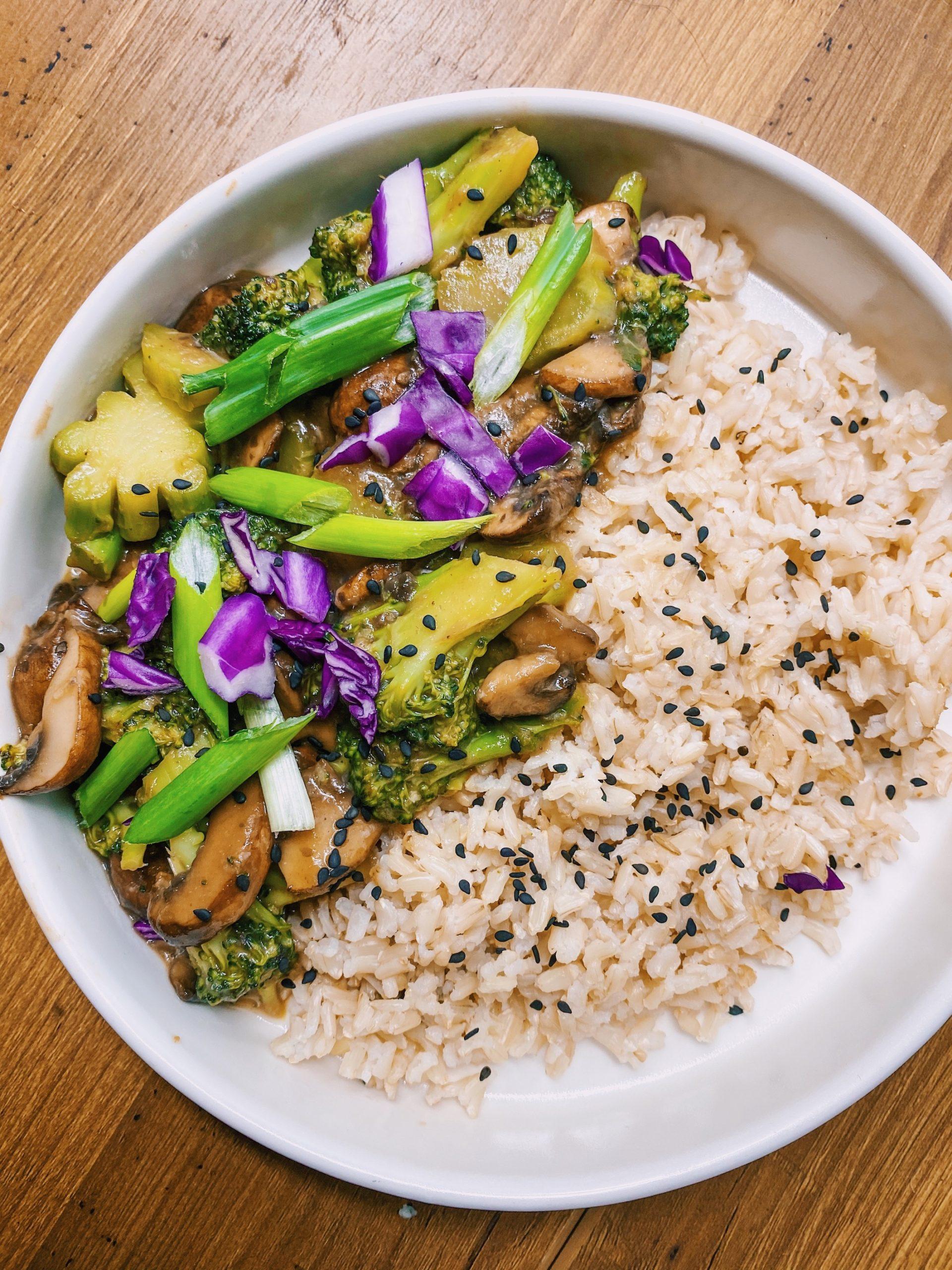 Broccoli Mushroom Stir Fry