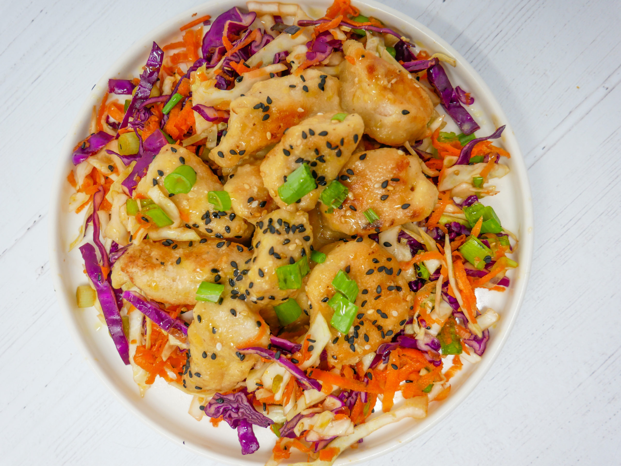 Honey Miso Chicken and Sesame Cabbage Salad