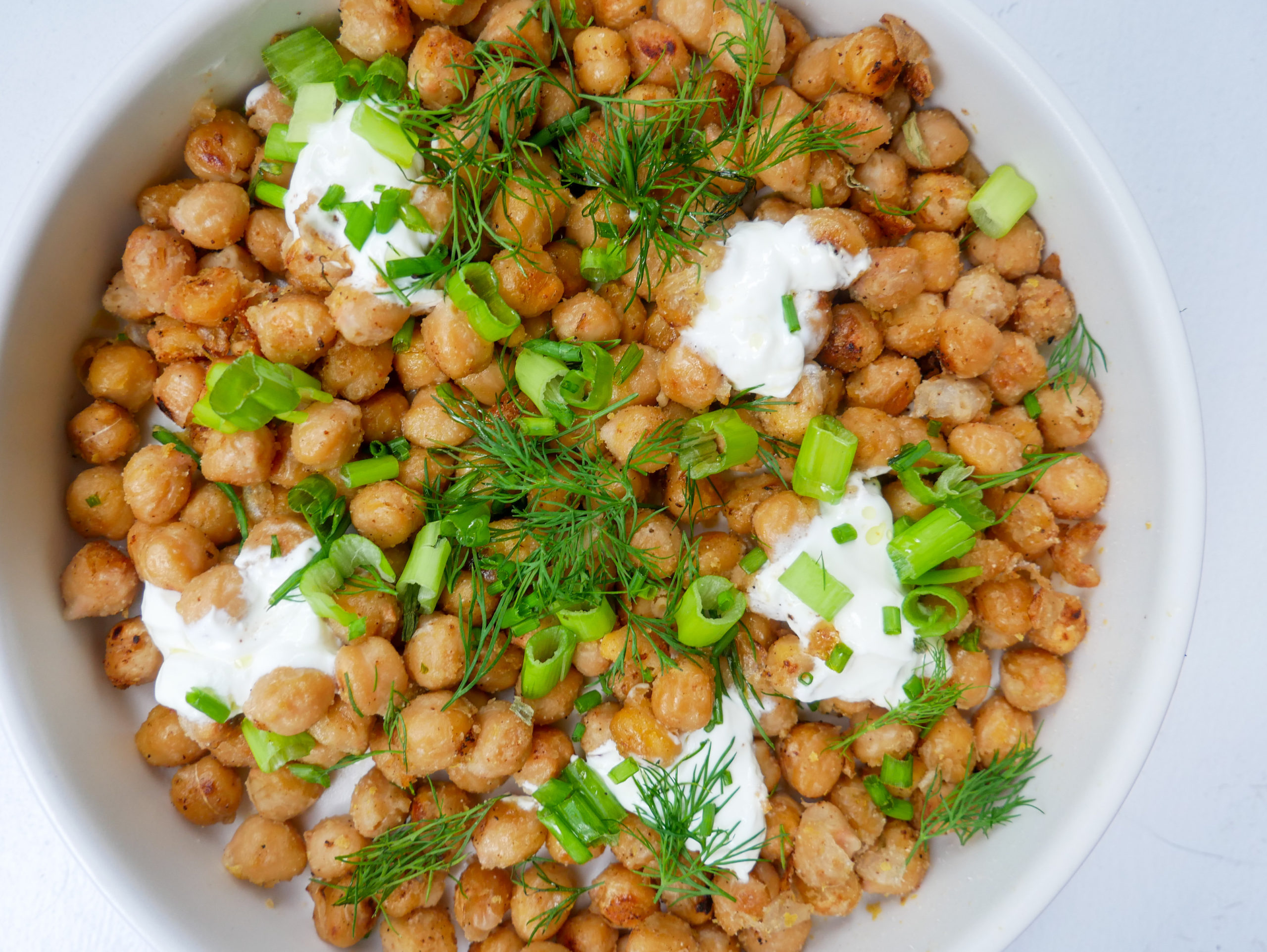 sour cream and onion chickpeas