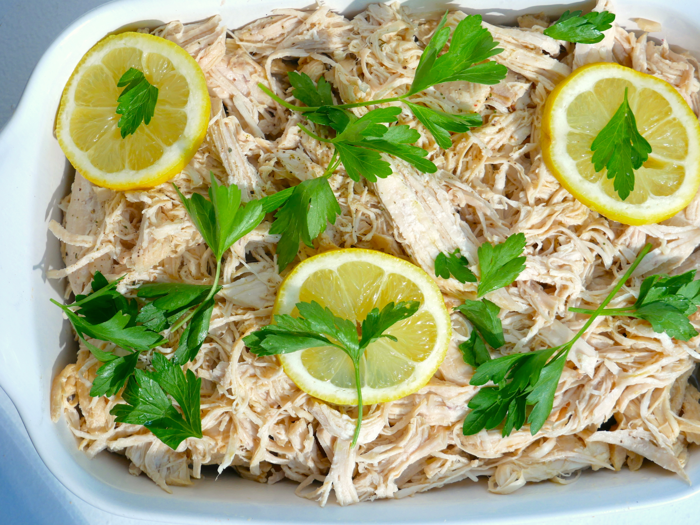 lemon garlic shredded chicken