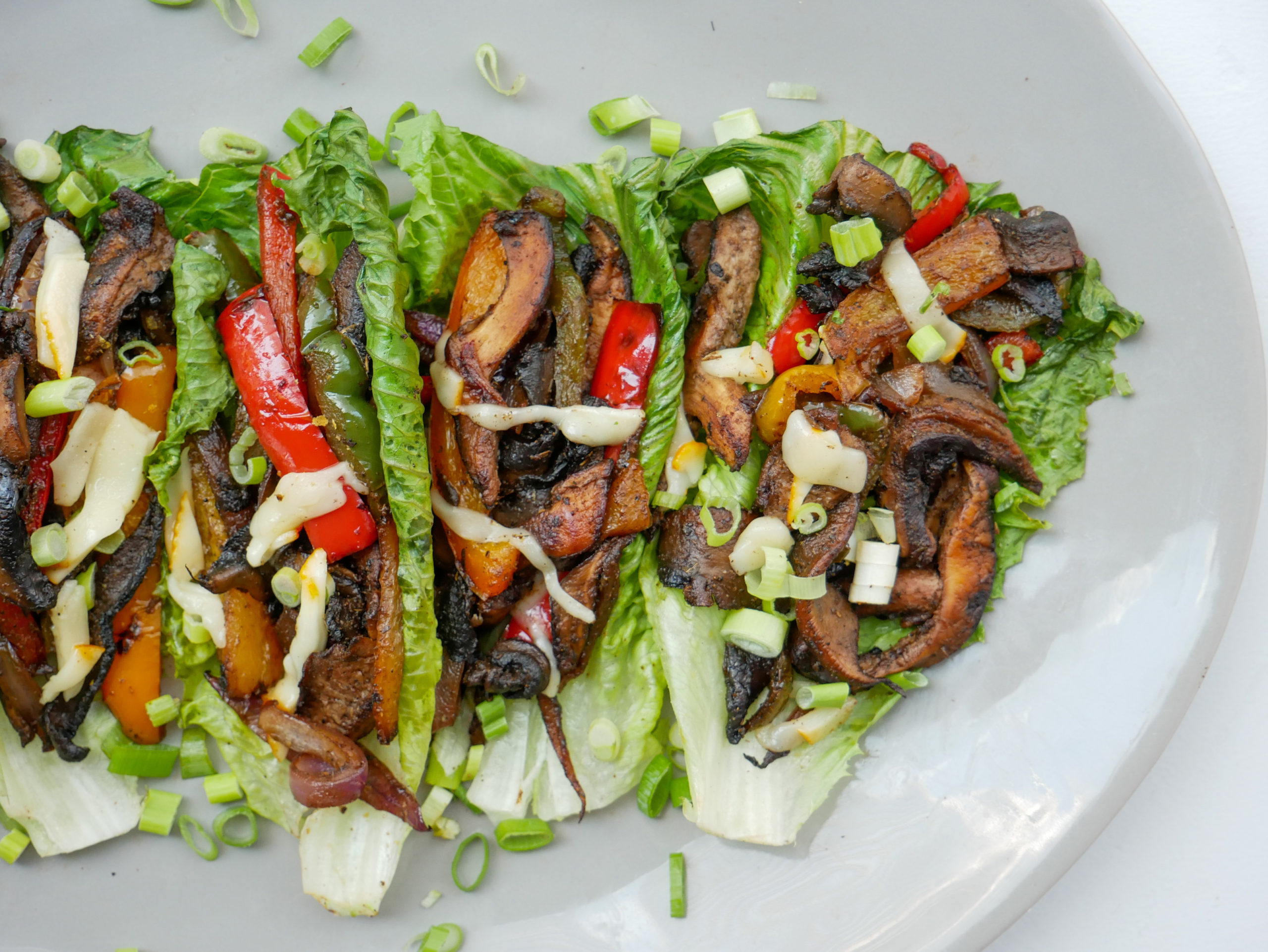 vegan philly cheesesteak lettuce wraps