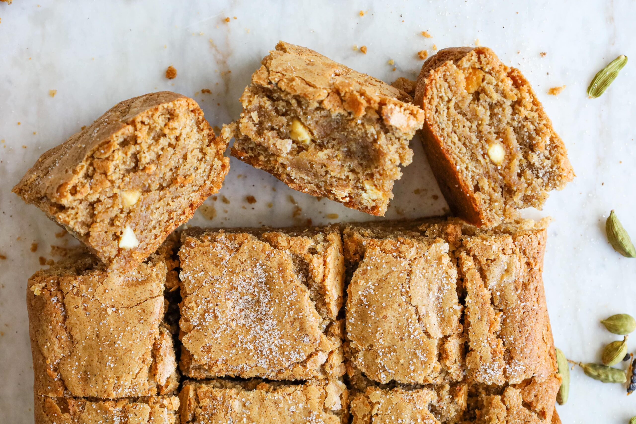 white chocolate chai blondies