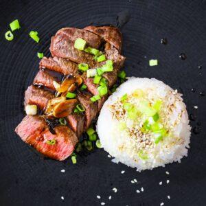 beef tenderloin steaks with garlic 3 ingredient japanese sauce