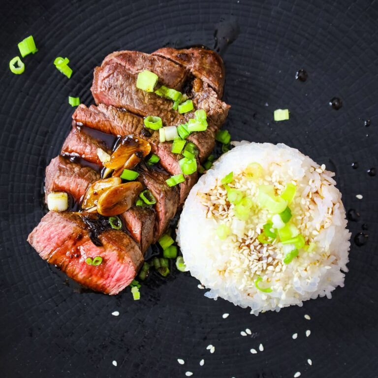 beef tenderloin steaks with garlic 3 ingredient japanese sauce