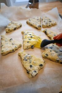 blueberry scone dough