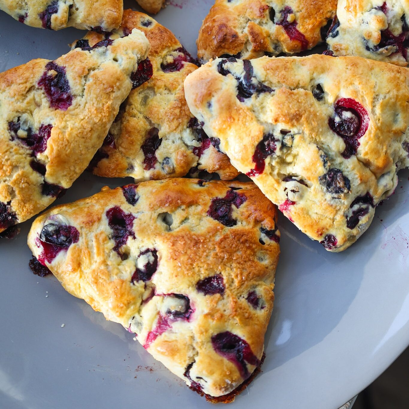 blueberry scones with honey miso butter