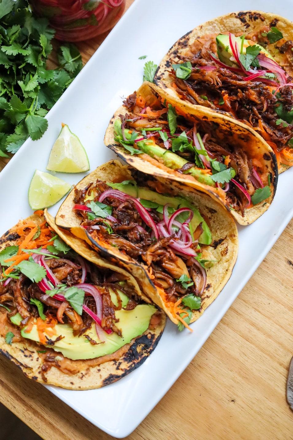 vegan chipotle mushroom tacos