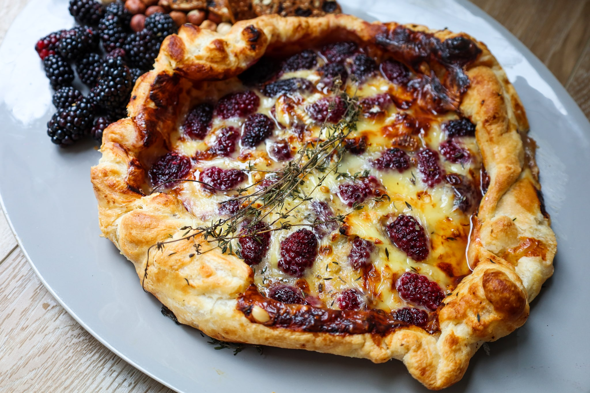 baked berry brie galette