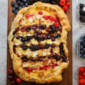 baked brie cherry berry galette