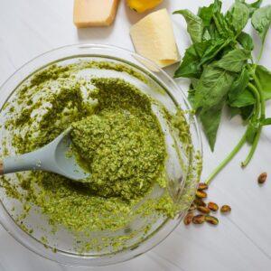 lemony pistachio pesto