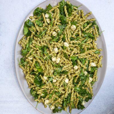 Lemony Pistachio Pesto Pasta Salad