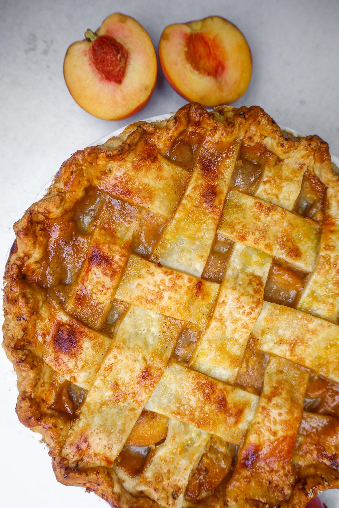 brown butter peach pie
